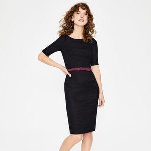 Boden Black 16R Fleur Fitted Dress